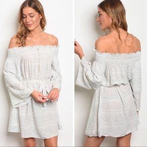 Dresses & Skirts - 🛍🎉🆕 Off The Shoulder Striped Dress